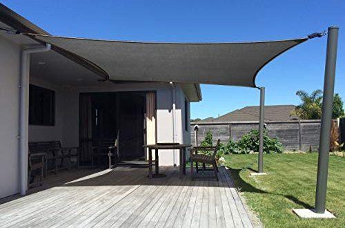 axt shade sonnensegel rechteck 4x6matmungsaktiv sonnenschutz hdpe mit uv schutz fuer terrasse balkon und garten graphit 500x330 - AXT SHADE Sonnensegel Rechteck 4x6m,atmungsaktiv Sonnenschutz HDPE mit UV Schutz für Terrasse, Balkon und Garten- Graphit