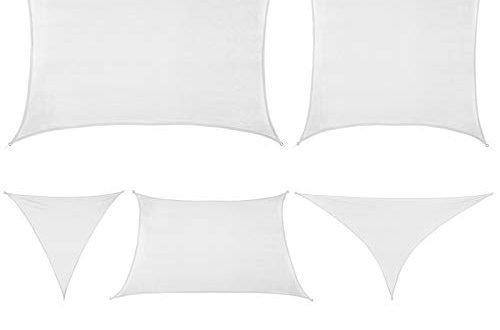 BB Sport Sonnensegel in verschiedenen Größen und Farben Sonnenschutz Windschutz Schattenspender, Größe (Fläche):3m x 3m x 3m, Farbe:Kokos