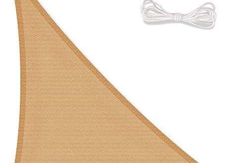 celinasun 0011666 sonnensegel sonnenschutz garten uv schutz wetterbestaendig hdpe atmungsaktiv dreieck rechtwinklig 4 x 4 x 565 m sand beige 500x330 - CelinaSun 0011666 Sonnensegel Sonnenschutz Garten | UV Schutz wetterbeständig HDPE atmungsaktiv | Dreieck rechtwinklig 4 x 4 x 5,65 m sand-beige