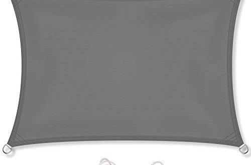 celinasun sonnensegel sonnenschutz garten balkon und terrasse pes polyester wetterschutz wasserabweisend impraegniert schattenspender 1000300 rechteck 2 x 4 m anthrazit 500x330 - CelinaSun Sonnensegel, Sonnenschutz Garten Balkon und Terrasse PES Polyester Wetterschutz wasserabweisend imprägniert Schattenspender 1000300 Rechteck 2 x 4 m anthrazit