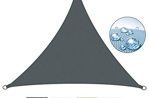 Sol Royal SolVision PS9 - Sonnensegel dreieckig 300x300x300 cm PES Wasserabweisend - Anthrazit - Sonnenschutz UV Schutz