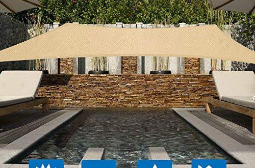 Innoo Tech Sonnensegel 2x3m Sonnenschutz sonnensegel wetterbestaendig Segel Schatten PES 500x330 - Innoo Tech Sonnensegel 2x3m Sonnenschutz sonnensegel wetterbeständig Segel Schatten PES UV-Schutz sonnensegel rechteckig für Garten Outdoor Terrasse Balkon ,Beige