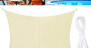 TedGem Sonnensegel Sonnensegel Wasserdicht Sonnensegel Rechteckig Sonnenschutz Balkon Sonnensegel 2x3 310x165 - TedGem Sonnensegel, Sonnensegel Wasserdicht, Sonnensegel Rechteckig, Sonnenschutz Balkon, Sonnensegel 2x3 Hergestellt aus hochwertigem Polyester, 160 g / m2. für Garten/Balkon/Terrasse (2x3M)