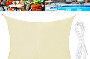 TedGem Sonnensegel, Sonnensegel Wasserdicht, Sonnensegel Rechteckig, Sonnenschutz Balkon, Sonnensegel 2x3 Hergestellt aus hochwertigem Polyester, 160 g / m2. für Garten/Balkon/Terrasse (2x3M)
